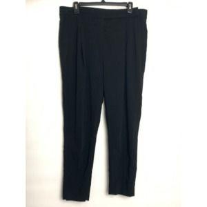 AllSaints Black Front Pleated Trouser Pants